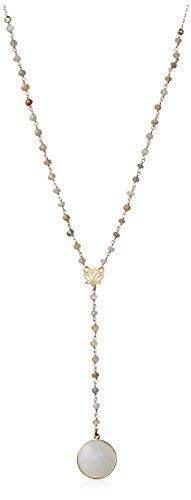 Electric Picks Pink Moon Lotus Lariat Necklace