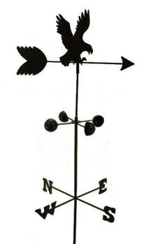 EDM - WEATHER VANE Eagle 5 Feet Tall Black Garden Mount Yard Décor