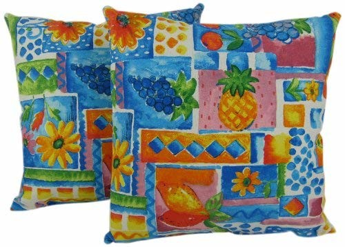 American Mills 42998.511 Tutti Fruitti Pillow, 18 by 18-Inch, Set of 2
