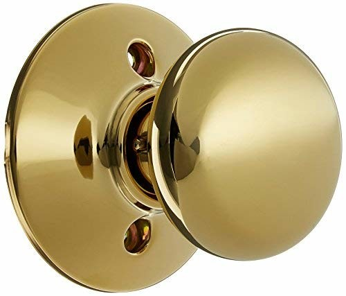 Schlage F170-PLY Plymouth Single Dummy Door Knob, Lifetime Polished Brass
