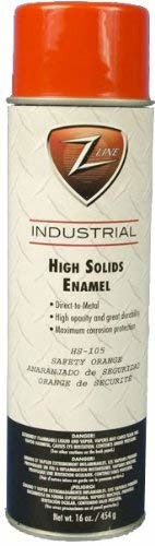Z-Line HS-105 High Solids Enamel Spray Paint, 16-Ounce, Safety Orange, 2-Pack