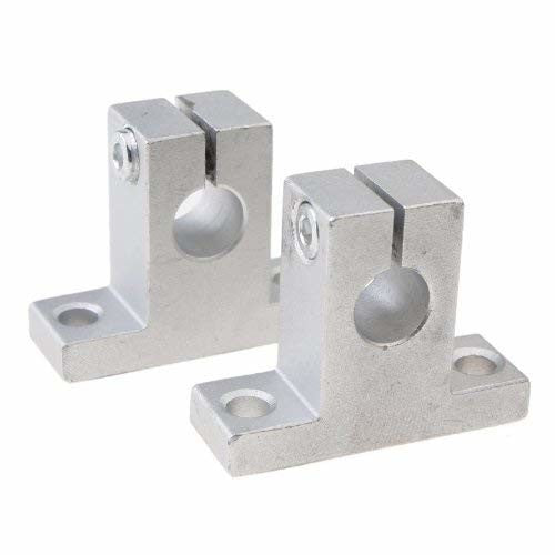 Ketofa 2pcs SK8 Size 8mm CNC Linear Rail Shaft Guide Support