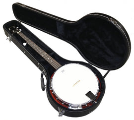 5-String Traditional Bluegrass Banjo Sepele Wood Remo Head WITH Hard Travel Case