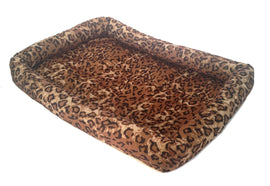"Leopard Print  PET BED Cushion Pillow Mat - 17"" x 12"" Dogs, Cats, Puppies"