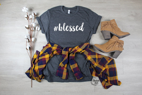 Women's Blessed Graphic Shirt for Fall Shirt