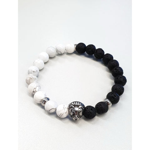 Armband Black/White Lion