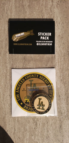 Los Angeles County 2020 Riots Challenge Coin & Sticker Pack
