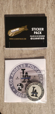 Los Angeles 2020 Riots Challenge Coin & Sticker Pack