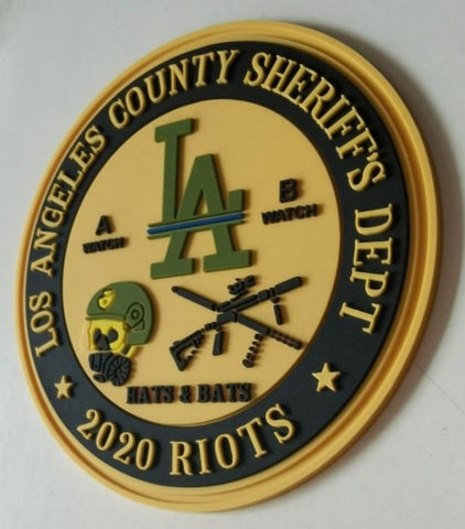Los Angeles County PVC Velcro Patch