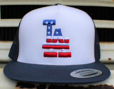 Los Angeles Stars n Stripes Classic Mesh Back Trucker Cap