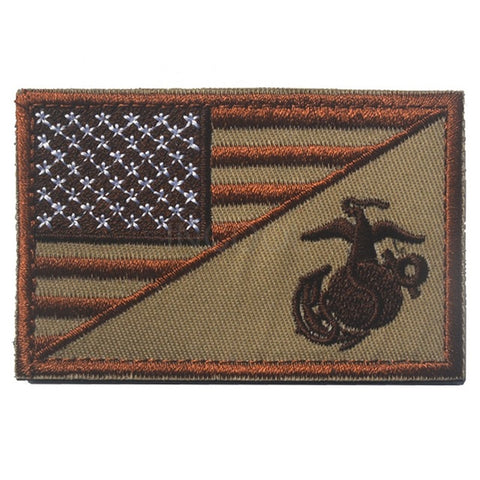 US American Flag Marine Corps USMC Morale Patch Tactical Emblem Badges