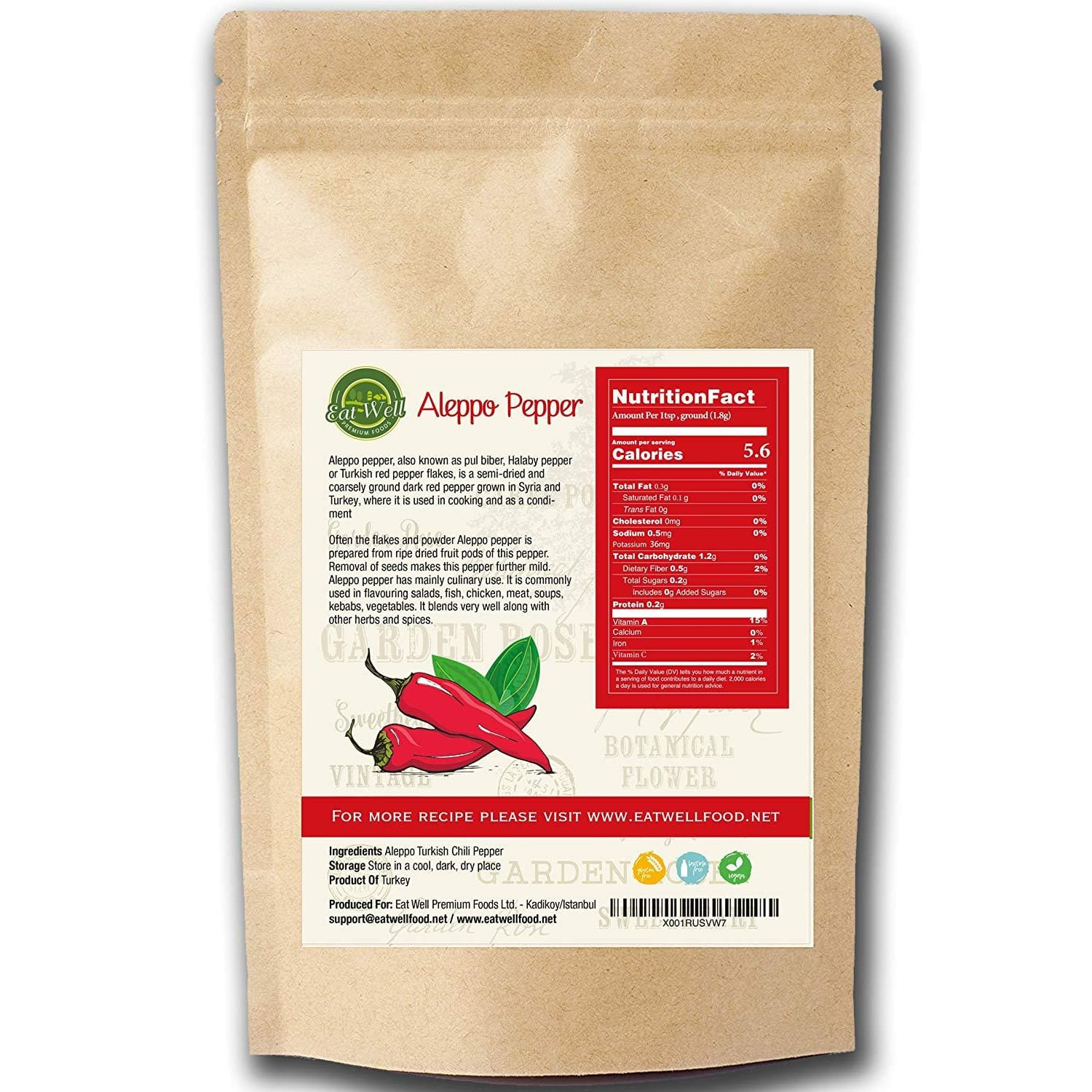 Aleppo Pepper | 8 oz - 227 gr | Crushed Turkish Chili Pepper