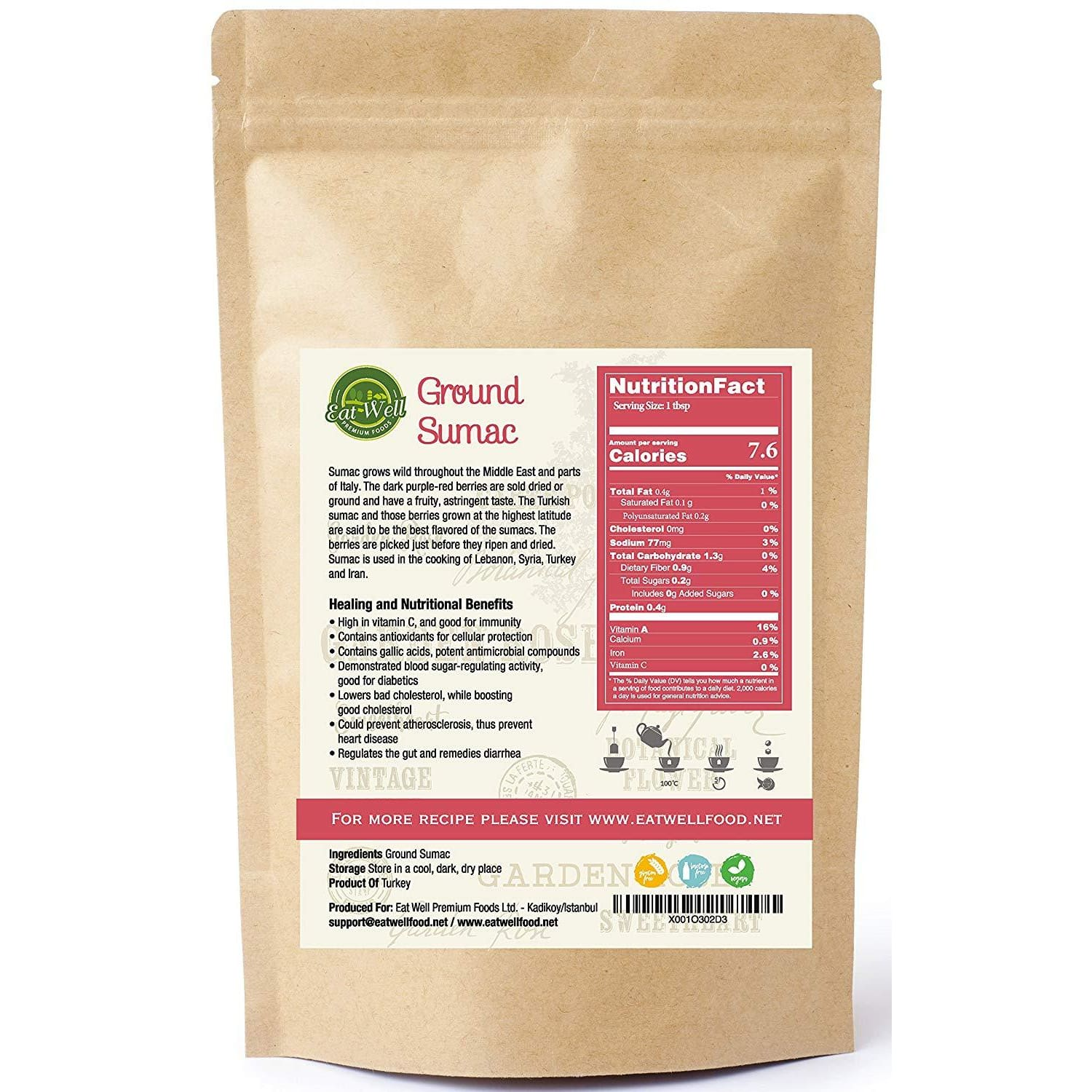 Ground  Sumac Spice  | 15 oz