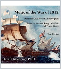"ANTHEM companion CD: ""MUSIC of the War of 1812"" - CD set"
