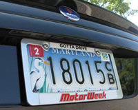 MotorWeek: Single MW License Plate Frame