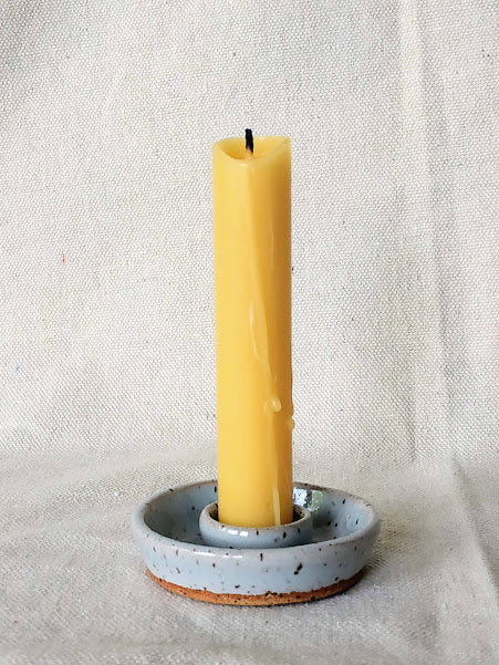 Light Blue Speckled Candle Holder