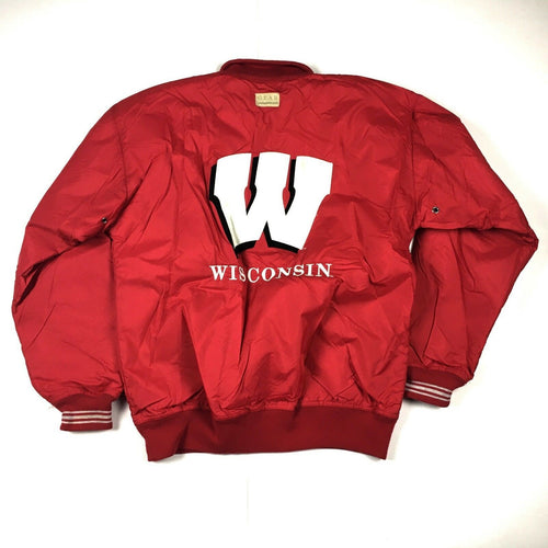 VTG 90s University of Wisconsin Badgers Big Patch Gear for Sports Pullover Sz S