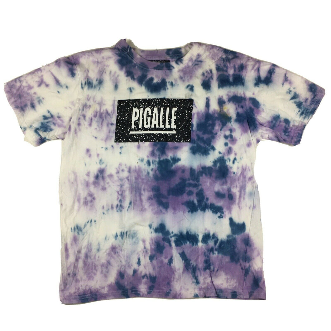 Custom Pigalle Tie Dye T-Shirt Purple/Blue Sz Small