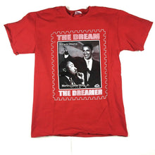 Load image into Gallery viewer, Martin Luther King Jr. and Barack Obama The Dream & The Dreamer T-Shirt Red Sz M