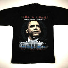 Load image into Gallery viewer, Barack Obama Democratic Presidential Nominee T-Shirt 2008 USA Black Sz 4XL