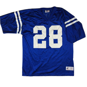VTG 90s Marshall Faulk Indianapolis Colts Jersey #28 Logo Athletic Sz Large