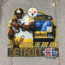Load image into Gallery viewer, Vintage Pittsburgh Steelers Jerome Bettis Taking the Bus Home T-Shirt Sz M