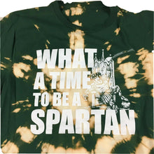 Load image into Gallery viewer, Custom Michigan State University Tie Dye T-Shirt What A Time to Be A Spartan M