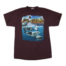 Load image into Gallery viewer, Vintage 90s Sea World 3D Dolphins Graphic T-Shirt (Brown) Sz Large