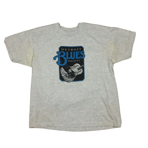 Vintage 1986 Detroit Blues Society T-Shirt on Best Fruit of the Loom Tag Sz XL