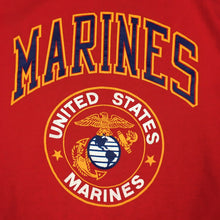 Load image into Gallery viewer, Vintage 80s United States Marines USMC T-Shirt Crest Logo Single Stitch (XL)