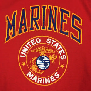 Vintage 80s United States Marines USMC T-Shirt Crest Logo Single Stitch (XL)