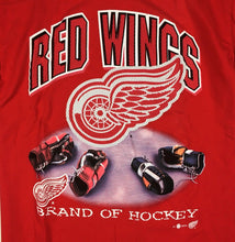 Load image into Gallery viewer, VTG 90s Detroit Red Wings Brand of Hockey T-Shirt NHL Sport Attack Sz L