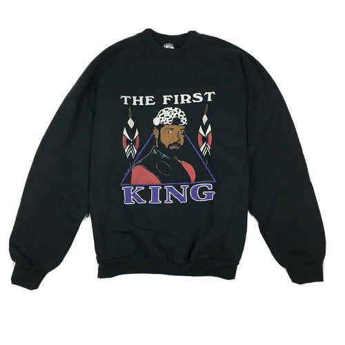 Vintage 90s The First King Black History Crewneck Sweatshirt Made in USA Sz XL