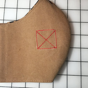 Banned Workwear Face Mask (Khaki/Hawaiian Print)
