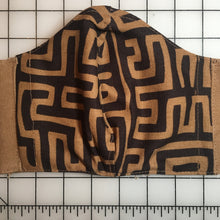 Load image into Gallery viewer, Banned Workwear Face Mask (Khaki/Geometric Print)
