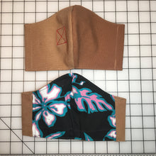 Load image into Gallery viewer, Banned Workwear Face Mask (Khaki/Hawaiian Print)