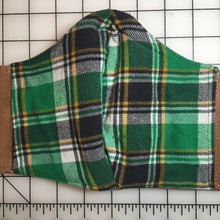 Load image into Gallery viewer, Banned Workwear Face Mask (Khaki/Green Flannel)