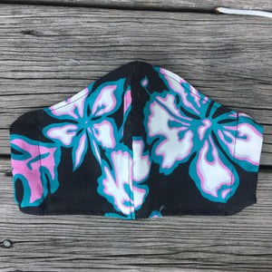 Reworked Hawaiian Shirt Face Mask