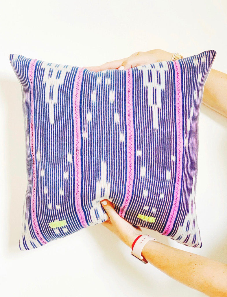 ABIOLA Throw Pillow | Vintage African Baoule Cloth