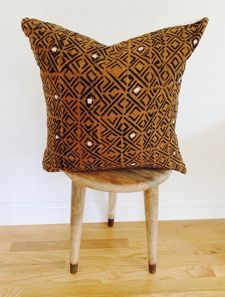 AREN Throw Pillow | African Mud Cloth African Mud Cloth Hudson and Harper