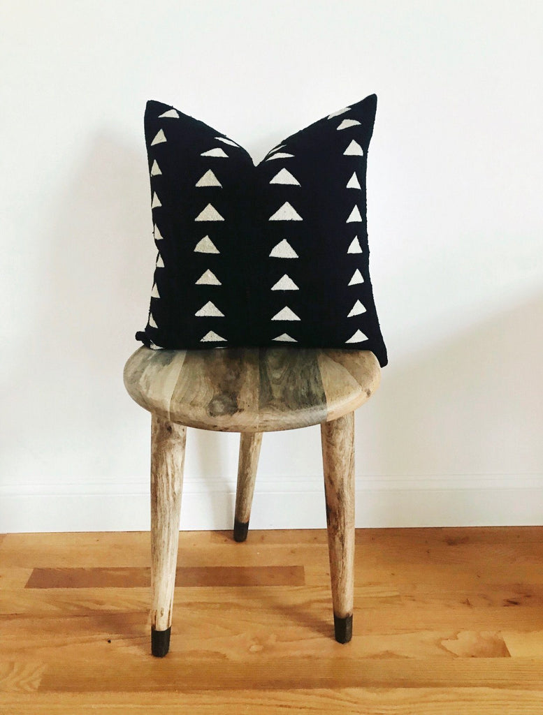 MISFIT BLACK BEHATI Throw Pillow | African Mud Cloth
