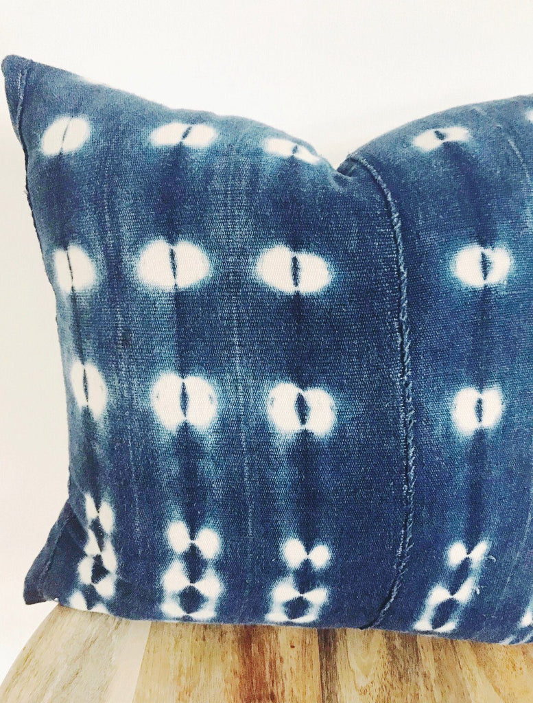 BOBO Throw Pillow | Vintage African Indigo Hudson and Harper
