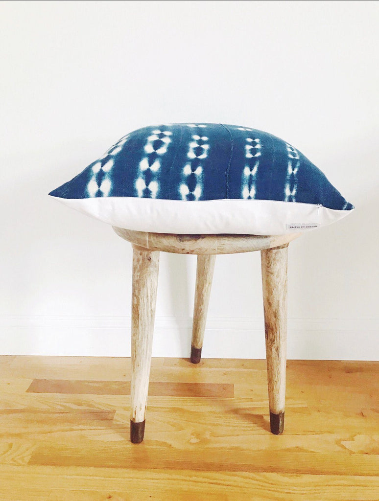 BOBO Throw Pillow | Vintage African Indigo