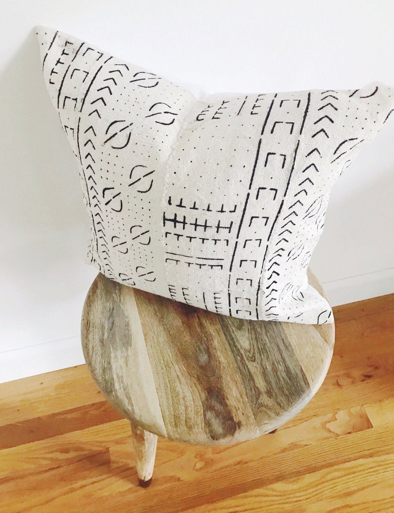 BUNME Throw Pillow | African Mud Cloth