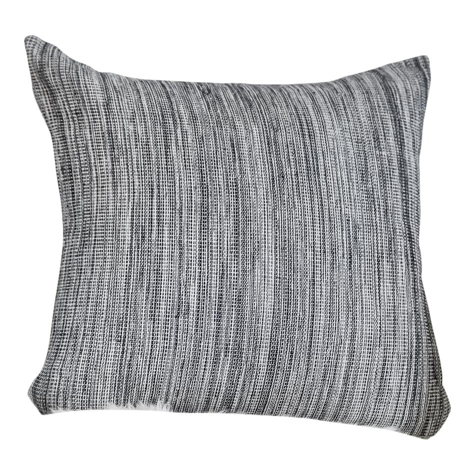 "STORY Throw Pillow | Hand Woven Organic Cotton Hudson and Harper 16"" x 16"""