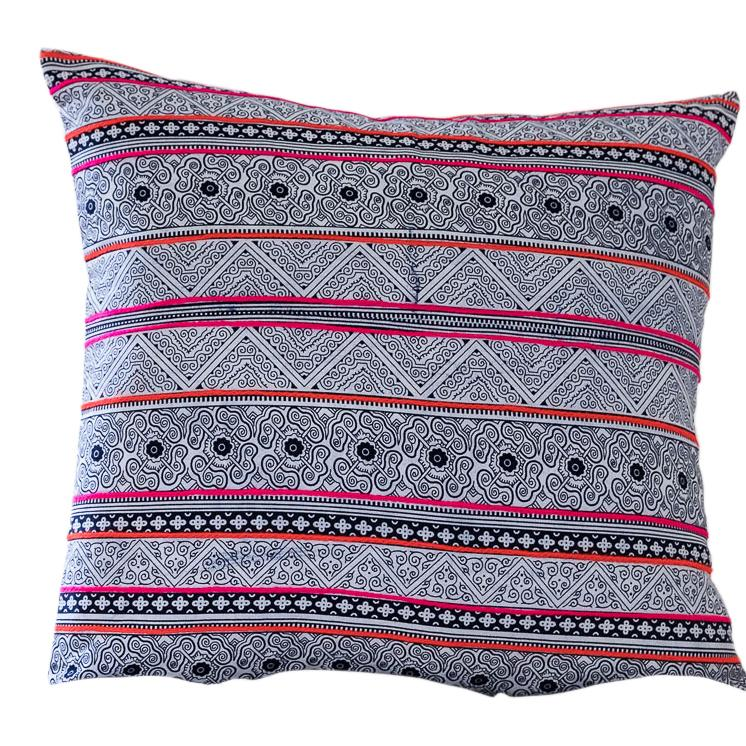 "BOONSRI Throw Pillow | Hilltribe Hmong Hudson and Harper 14"" x 24"""