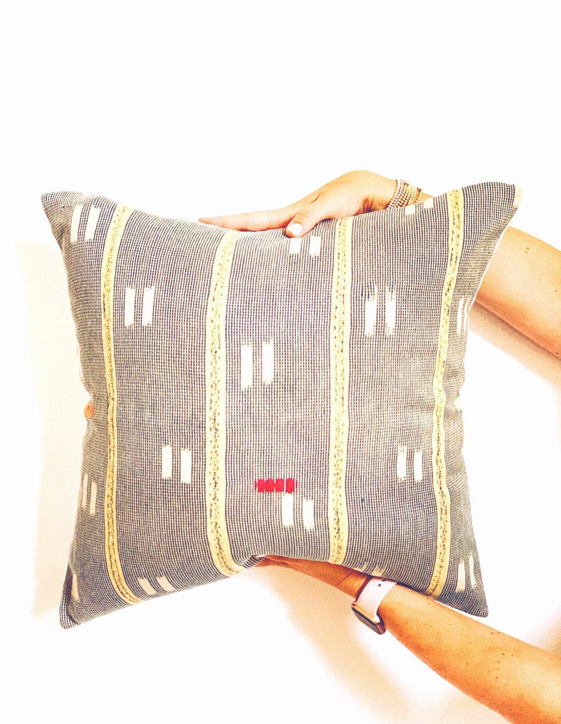 "CHIDI Throw Pillow | Vintage African Baoule Hudson and Harper 18"" x 18"""