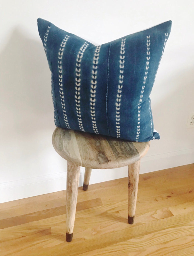 DHALIA Throw Pillow | Vintage African Indigo Hudson and Harper