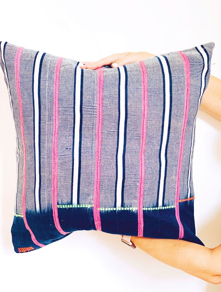 "FABUMI Throw Pillow | Vintage African Baoule Hudson and Harper 18"" x 18"""