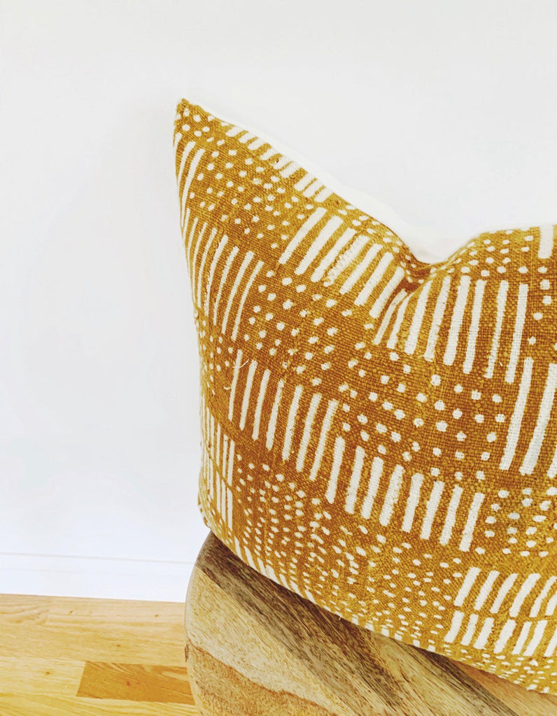 HASANI Throw Pillow | African Mud Cloth